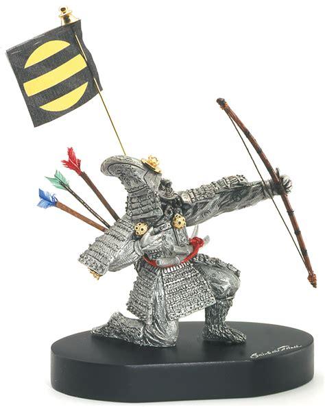 samouraï siège pewter figurine samurai archer