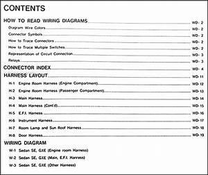 1990 Nissan Maxima Wiring Diagram Manual Original