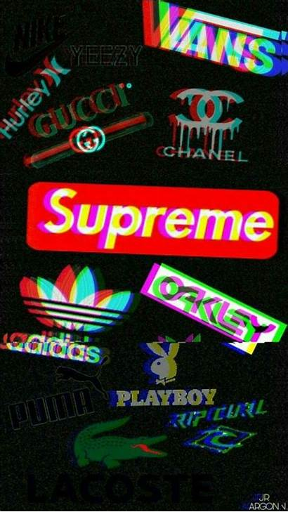 Iphone Glitch Supreme Wallpapers Aesthetic Emoji Weed