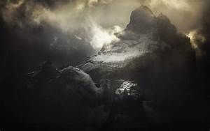 Nature, Landscape, Mountain, Mist, Sky, Clouds, Patagonia, Chile, Sunrise, Dark, Atmosphere