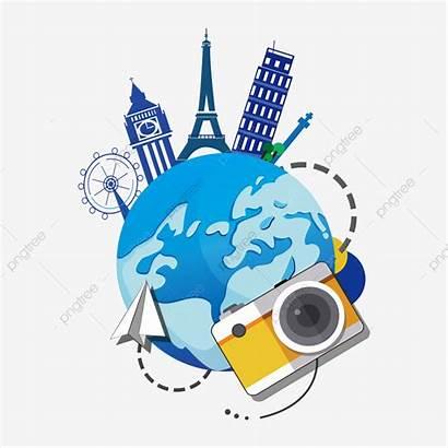 Travel Abroad Tourism Promotion Clipart Vector Tour