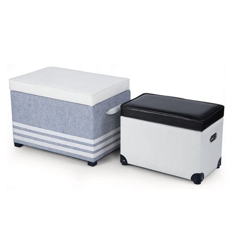 fabric storage ottoman bench joveco fabric storage ottoman bench with faux leather lid