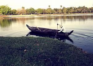 A dugout canoe ride across Angkor Wat's Moat ...