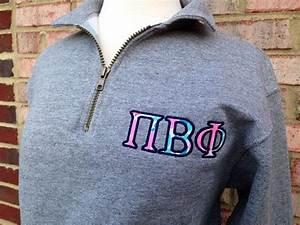 lilly pulitzer sorority sweatshirt greek letters With quarter zip greek letters