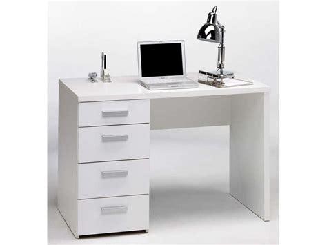 bureau pas cher conforama bureau 4 tiroirs tilio coloris blanc vente de bureau