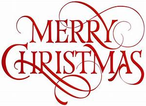 Merry Christmas Red Transparent PNG Clip Art | Gallery ...