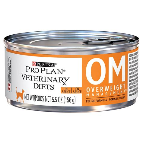 plan am駭agement cuisine purina pro plan veterinary diets om overweight management canned cat food 24x5 5 oz