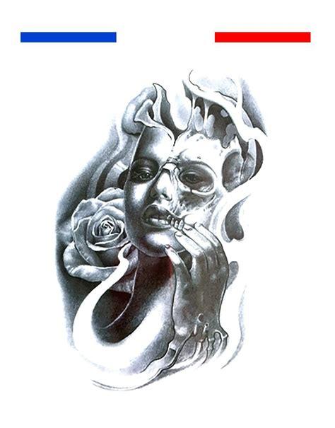 tatouage tete de mort mi femme mi t 234 te de mort et tatouage temporaire mon