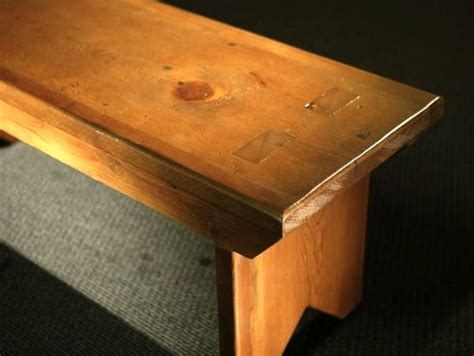 thick barn wood plank bench ecustomfinishes