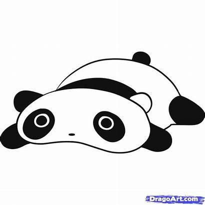 Panda Draw Drawing Easy Step Tarepanda Tare