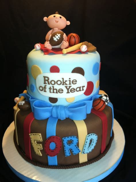 sports themed baby shower cake cakecentralcom