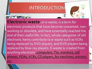 E, Waste, Introduction, And, Management