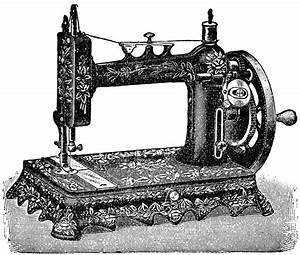vintage sewing machine, digital clipart sewing, old French ...