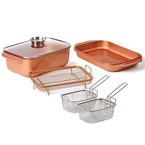copper chef pro bacon crisper     piece set xl bacon crisper  original xl copper