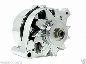 Alternator Chrome Ford 289 302 351w Mustang 3 Wire 100 Amp