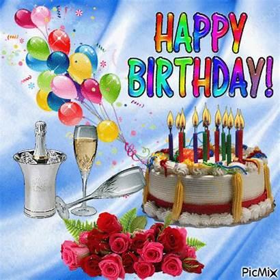Birthday Happy Picmix Cake Gifs Anniversaire Wishes