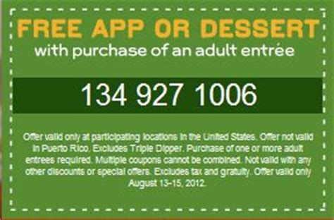 31753 Free Dessert Coupon Chilis by Free Appetizer Or Dessert From Chili S
