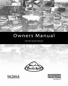 Hot Tub Manual - Arctic Spas Owner Manual