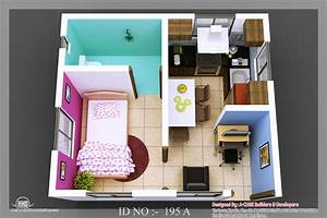 3d isometric views of small house plans kerala home for Small house design plans 3d