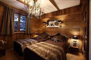 Beautiful chambre style chalet montagne pictures design for Deco chambre style chalet