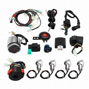 Full Electric Start Engine Wiring Harness Loom For Cdi