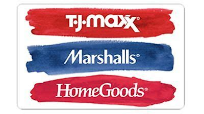 You will be informed about your gift card balance. $10.00 TJ Maxx Marshalls HomeGoods Gift Card | eBay