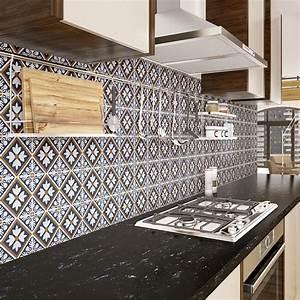 Stickers Carreaux De Ciment Cuisine : 60 stickers carreaux de ciment azulejos eva cuisine ~ Melissatoandfro.com Idées de Décoration