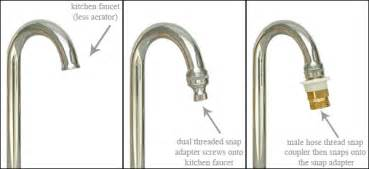 Faucet Aerator Hose Thread Adapter by Ccoiled Stretchable Garden Hoses Accessories And More