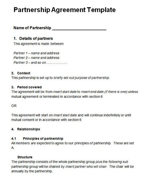 sample partnership agreement   documents