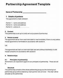14 partnership agreement templates pictures for Corporate partnership agreement template