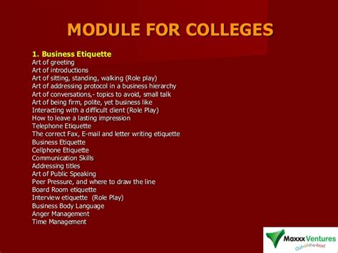 soft skills training modules  college students