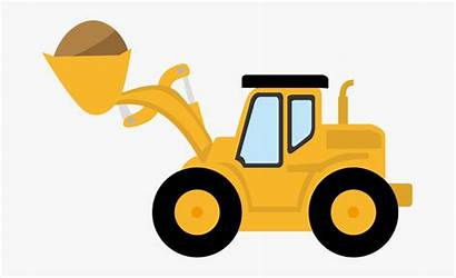 Digger Tractor Clip Truck Clipart Transparent Clipartkey