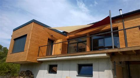 maison ossature bois avec terrasse suspendue 224 rochefort en valdaine dans la dr 244 me os 233 bois