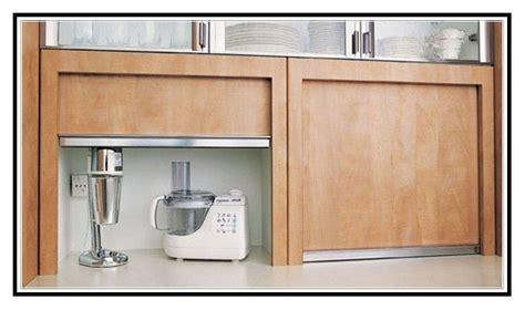 Kitchen appliance cupboard with roller door   kitchen