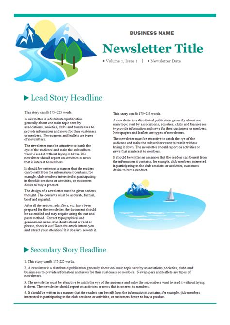 company newsletter  company newsletter templates
