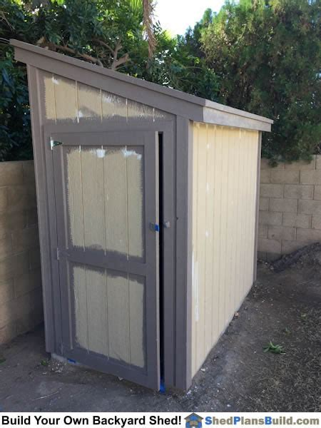 4x8 Wood Storage Shed by Lean To Shed Plans Photo Gallery