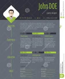 modern curriculum vitae template modern resume cv with photo and dark background stock vector image 57360222