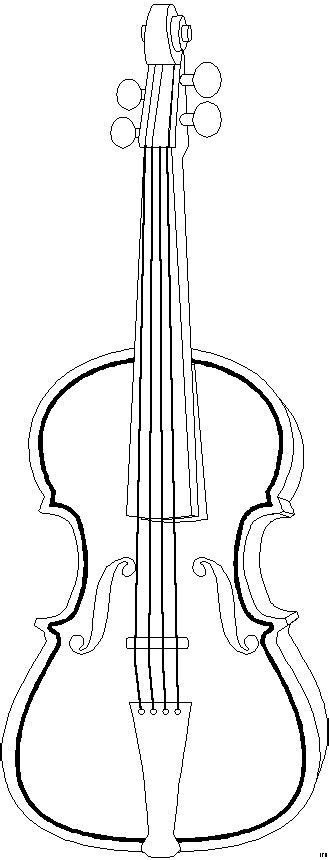 geige schema ausmalbild malvorlage musik
