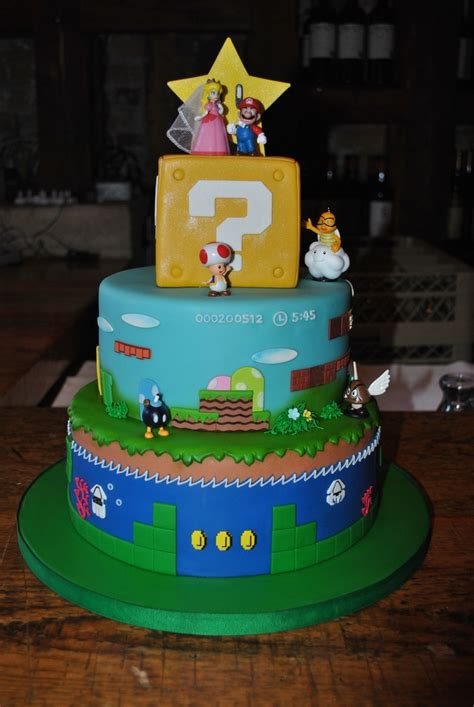 Super Mario Wedding Cake Mario In 2019 Super Mario
