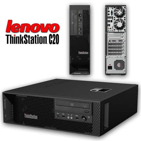 buy lenovo thinkstation  tower pc dual quad core xeon