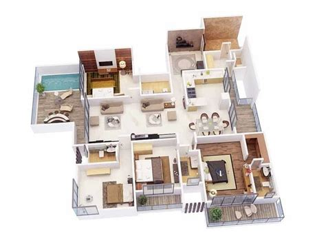 4 Bedroom Apartmenthouse Plans  Futura Home Decorating