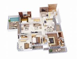 4 bedroom apartment house plans futura home decorating With 4 bedroom flat plan design