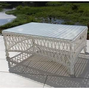 everglades white resin wicker patio coffee table by With white resin coffee table