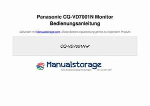 Panasonic Cq Vd7001u Wiring Diagram