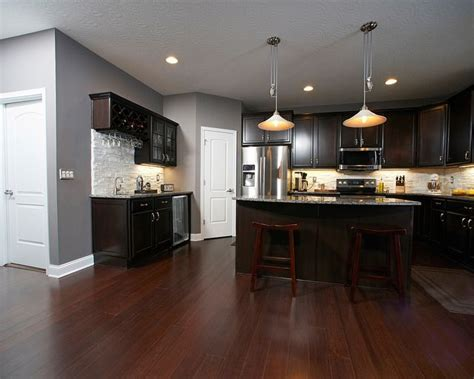 gray kitchen walls with cherry cabinets best 25 cherry floors ideas on cherry wood 8348