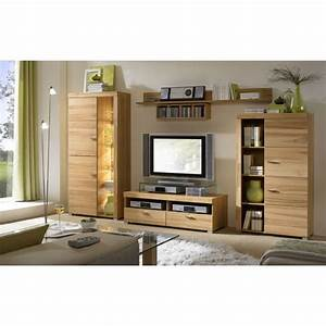 Wohnwand 2 Teilig : wohnwand viola 4 teilig kernbuche klarglas teilmassiv modell 2 ohne beleuchtung ~ Indierocktalk.com Haus und Dekorationen