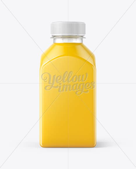 The biggest source of free photorealistic bottle mockups online! Square Orange Juice Bottle Mockup - Front View in Bottle ...