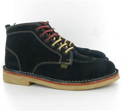 kickers ledgendary suede ankle boots in blue