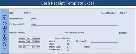 cash receipt template excel receipt template templates