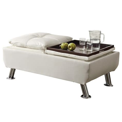 Reversible Ottoman With Tray - 300293 ottoman with reversible tray tops from